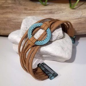 Jewelry - Copper and Leather Bracelet